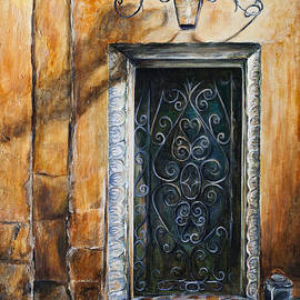 N'Orleans Iron-Scroll Door  by Paula Noblitt