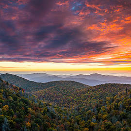 Dave Allen - North Carolina Blue Ridge Parkway Autumn at East Fork