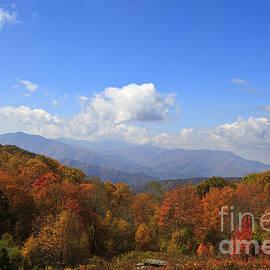 North Carolina Mountains In The Fall by Jill Lang