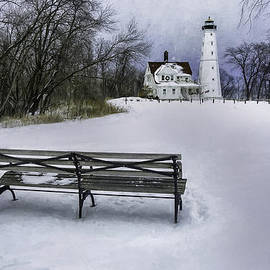 Scott Norris - North Point Lighthouse and Bench