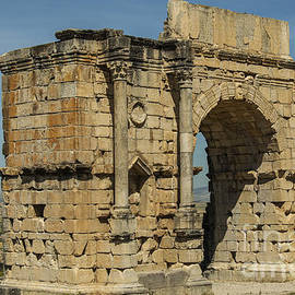 North side of the Arch of Caracalla at Volubilis by Patricia Hofmeester