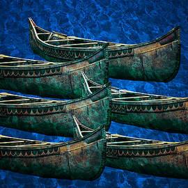 North Star Birch Bark Canoe by LeeAnn McLaneGoetz McLaneGoetzStudioLLCcom