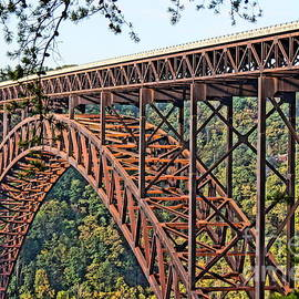 Timothy Connard - Northeast Close-up of New River Gorge Bridge
