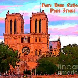 John Malone - Notre Dame Cathedral Poster