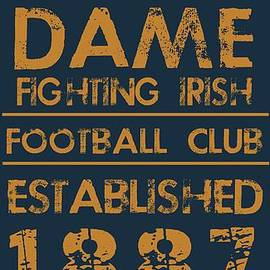 Notre Dame Stadium Sign by Jaime Friedman