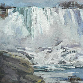 November Falls at Niagara by J R Baldini IPAP