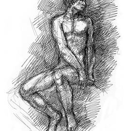 Nude Male Sketches 1 by Gordon Punt