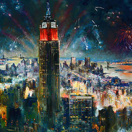 NYC in Fourth of July Independence Day by Ylli Haruni
