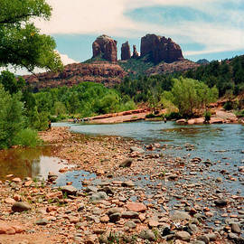 Oak Creek and Cathedral Rock 1993 by Connie Fox