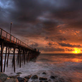 Peter Tellone - Oceanside Pier Perfect Sunset