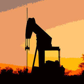 James Granberry - Oil Pump In Sunset