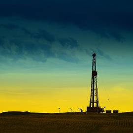 Oil Rig In The Spring by Jeff Swan