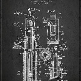 Aged Pixel - Oil Well Pump Patent From 1912 - Dark