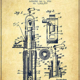 Aged Pixel - Oil Well Pump Patent From 1912 - Vintage