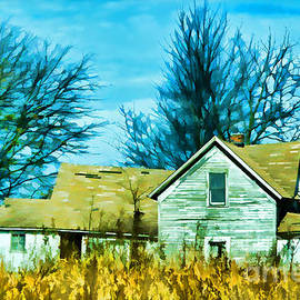 Debbie Portwood - Old abandoned house Digital paint