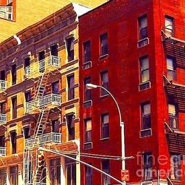 Old Buildings of New York City - Watercolor Effect by Miriam Danar