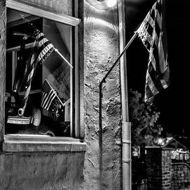 Old Glory Reflected - Bw by Christopher Holmes