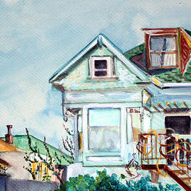 Asha Carolyn Young - Old House in Springtime Berkeley