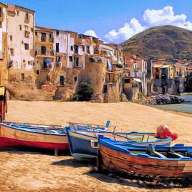 Old Italian Fishing Boats by Dominic Piperata