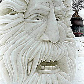Kay Novy - Old Man Winter Snow Sculpture