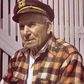 Old Monterey Fisherman circa 1955 by California Views Archives Mr Pat Hathaway Archives
