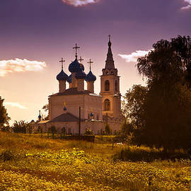 Jenny Rainbow - Old White Church. Beautiful Evening at Russian Countryside