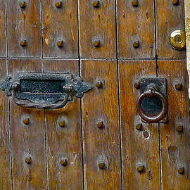 Old Wooden Door Close Up by Denise Mazzocco