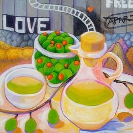 Olives Behind A Wall by Corey Habbas