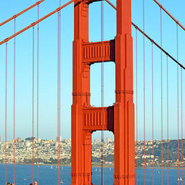 One of the Golden Gate Bridge's Towers Viewed from the Marin Side of the Bay by Jim Fitzpatrick