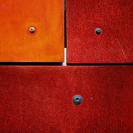 One Two Three - Colorful Rust - Red by Menega Sabidussi