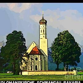 John Malone - Onion Domed Church near Newshuanstein Castle