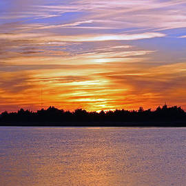 Cynthia Guinn - Orange And Blue Sunset