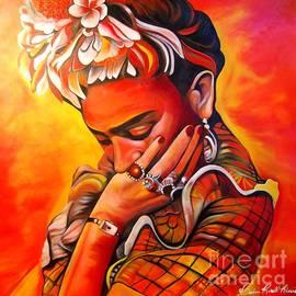 Orange Frida  by Barbara  Rivera