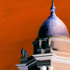 Kathy Barney - Orange Sky Purple Dome Newport RI