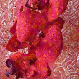 Barbie Corbett-Newmin - Orchid on Fabric