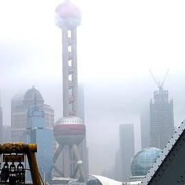 Oriental Pearl Tower Under Fog by Nicola Nobile