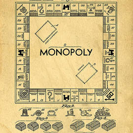 Original Patent for Monopoly Board Game by Edward Fielding