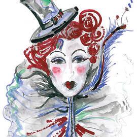 Original watercolor fashion illustration by Marian Voicu