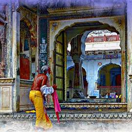 Sue Jacobi - Ornate Colorful Temple Priest Rajasthan India