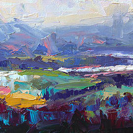 Talya Johnson - Overlook abstract landscape