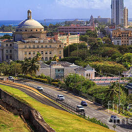 Overlooking Old San Juan by Mary Lou Chmura