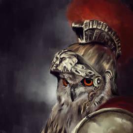 Owl Roman Warrior by Lourry Legarde