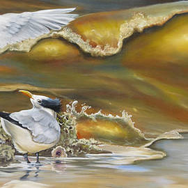 Oysters And Terns by Phyllis Beiser