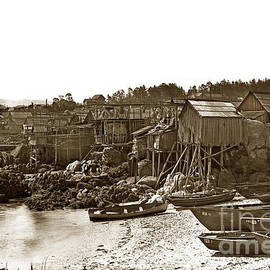 Pacific Grove Chinatown fishing settlement that burned down in May of 1906 by California Views Archives Mr Pat Hathaway Archives