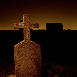 Jean Noren - Painted Cross in Graveyard