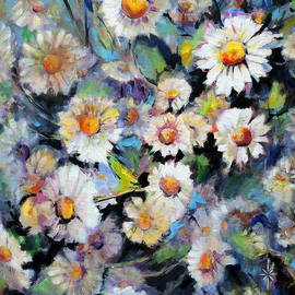 Painted Daisy by Jodie Marie Anne Richardson Traugott          aka jm-ART