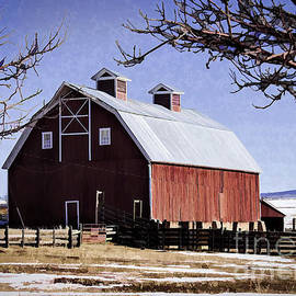 Painted Red Barn by Janice Pariza