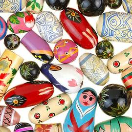 Painted Wooden Beads by Jim Hughes