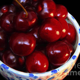 Andee Design - Painterly Bowl Of Cherries