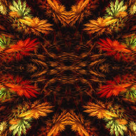 Painterly Fall Fractal Abstract  by Andee Design